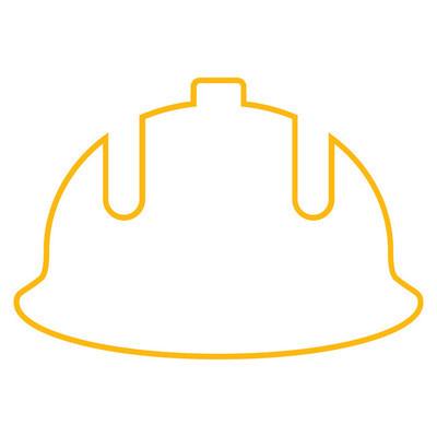 施工头盔轮廓矢量图标