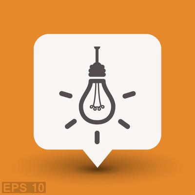 象形文的灯泡图标