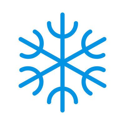 雪花图标矢量图