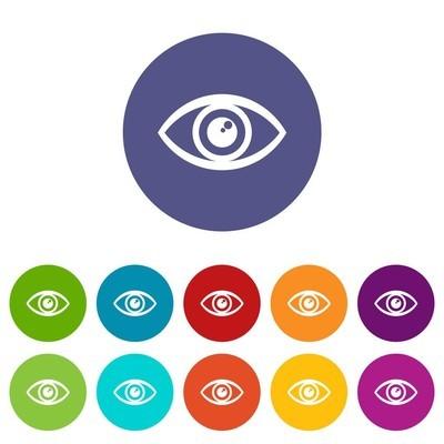 人类的眼睛图标,简单的样式