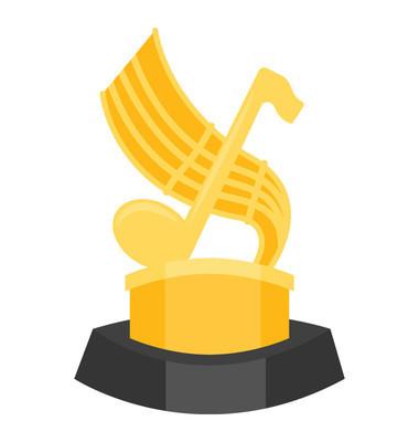 音乐奖杯创意图标设计