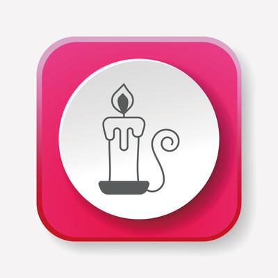万圣节蜡烛图标矢量图