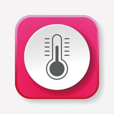 温度计图标矢量图矢量图