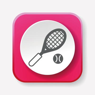 网球图标矢量图矢量图