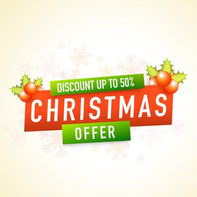 Christmas Offer poster, banner or flyer design.