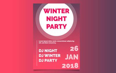 冬季派对海报模板