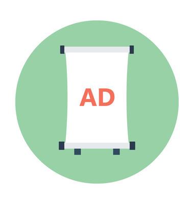 广告牌平面矢量图标