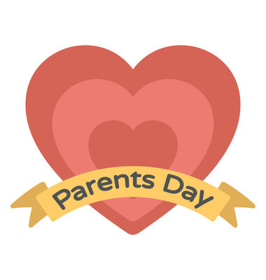 Flat icon design of parents day heart logo