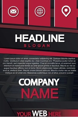 现代红商业海报