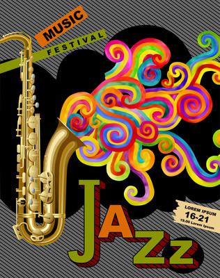 爵士音乐电影节海报