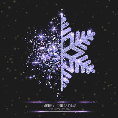 圣诞快乐, 新年快乐贺卡与美丽