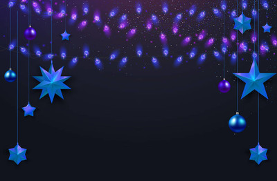 圣诞节和新年闪亮的背景与圣诞节装饰