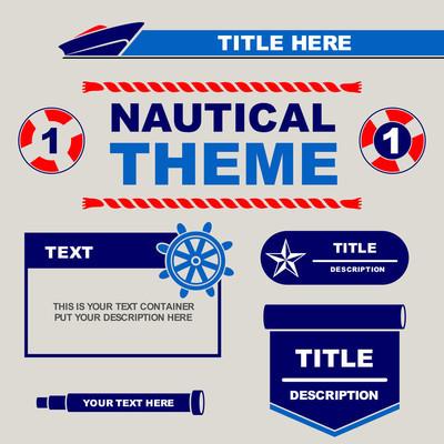 航海主题设计模板, 您可以使用它的传单, 横幅, 小册子等