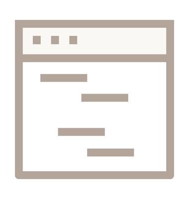 网站组织彩色线图标