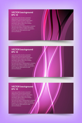 紫罗兰色横幅模板集