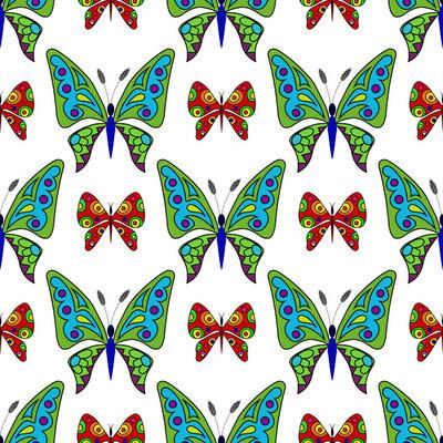 无缝模式从装饰蝴蝶 1