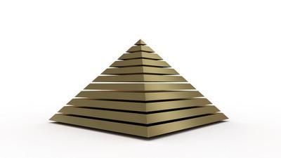金字塔 3d 渲染
