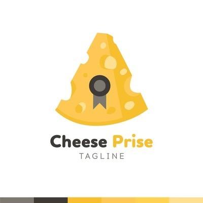 奶酪商标, 餐厅标志, 食品和烹饪标志, vecto