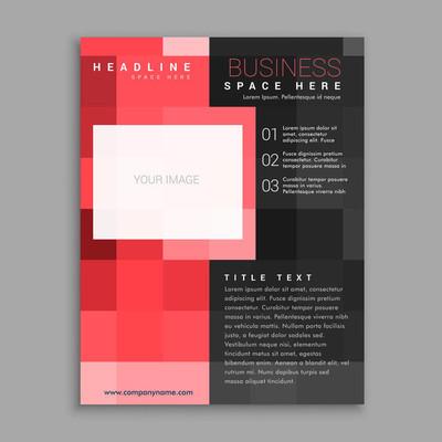 红场业务传单海报设计模板