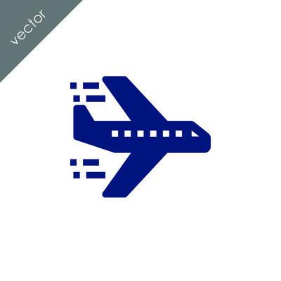 飞机标志图标,矢量图