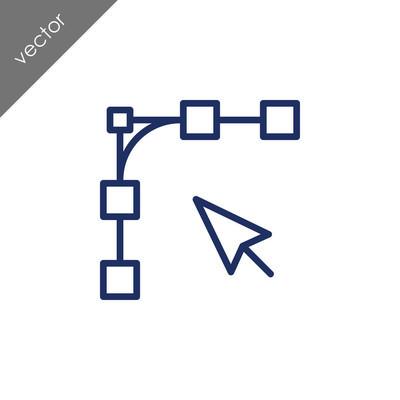 anchor points design icon, vector illustration