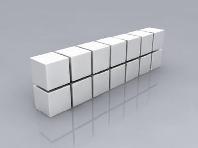白色的多维数据集
