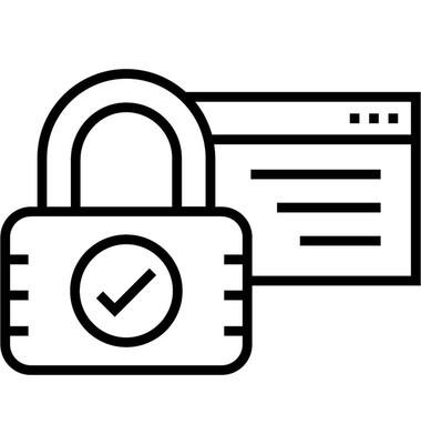 网站安全线矢量图标
