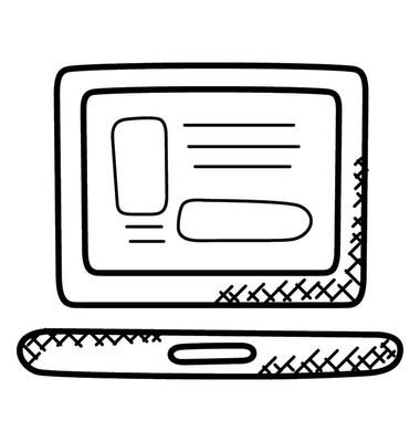 网页设计布局图标涂鸦