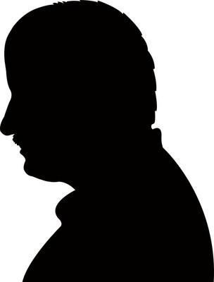 男人头黑色剪影矢量