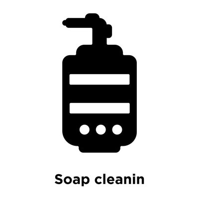 Soap cleanin icon vector isolated on white background, logo concept of Soap cleanin sign on transparent background, filled black symbol