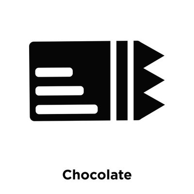 Chocolate icon vector isolated on white background, logo concept of Chocolate sign on transparent background, filled black symbol