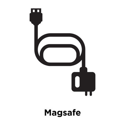 Magsafe icon vector isolated on white background, logo concept of Magsafe sign on transparent background, filled black symbol