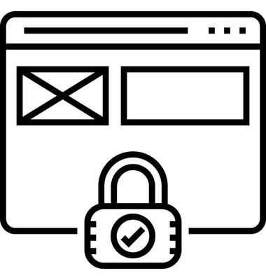 网站安全矢量图标
