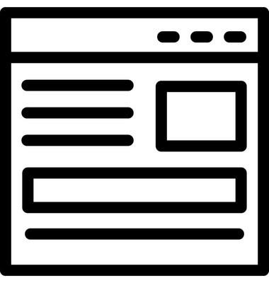 网站矢量线图标