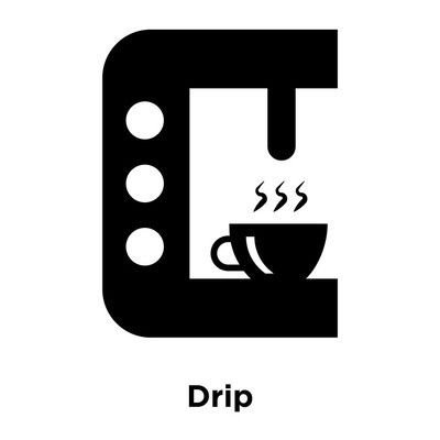 Drip icon vector isolated on white background, logo concept of Drip sign on transparent background, filled black symbol