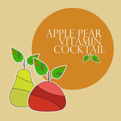 关于健康饮食的海报模板。符号的苹果和梨
