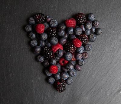 红色水果的心