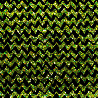 Seamless Pattern - chevron lines on green glitter background