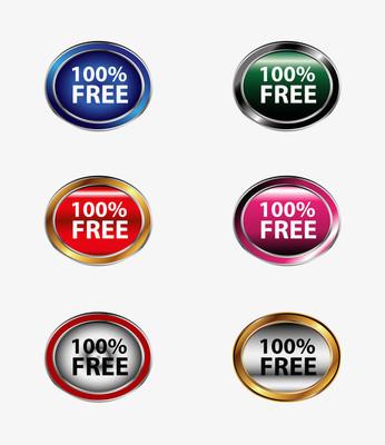 100%免费标签标记集的向量
