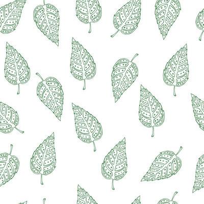用树叶矢量花纹