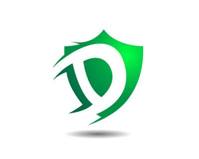专属保险 D 安全盾牌标志图标
