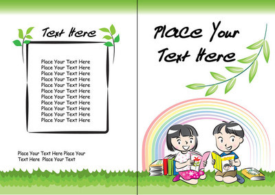 孩子们书封面设计边框