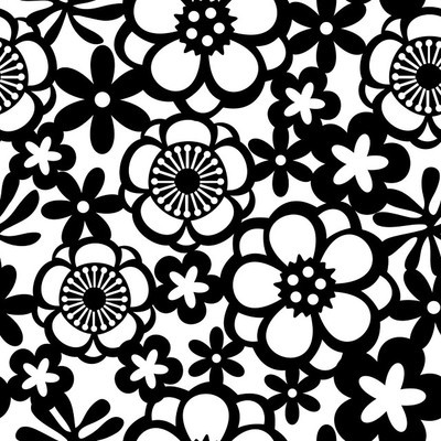 花花边无缝图案背景