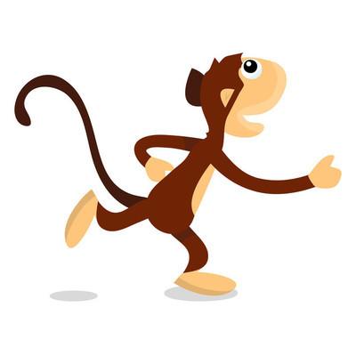 卡通跑步猴子