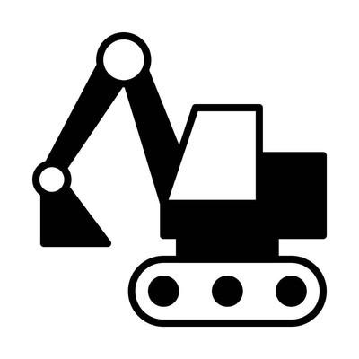挖掘机线图标, 用于网络, 移动和信息, 矢量插图