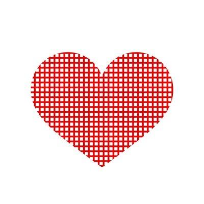 方格红心图标