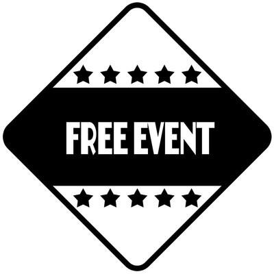 黑色菱形不干胶标签上的免费事件