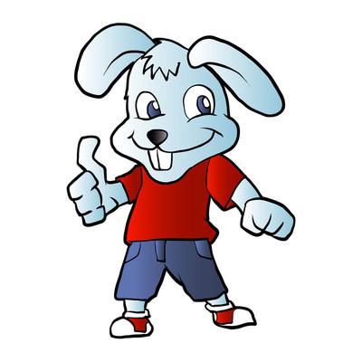 兔卡通矢量图
