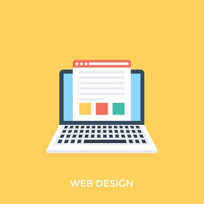 网页设计与开发的平面设计图标