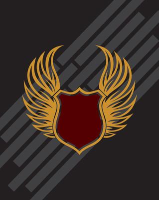 盾牌翅膀矢量
